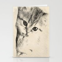 kitten Stationery Cards featuring Kitten by Augustinet