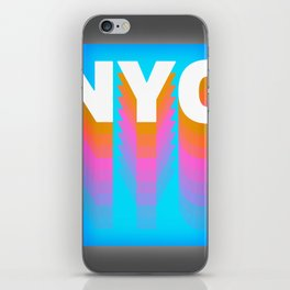 NYC colorful print design iPhone Skin