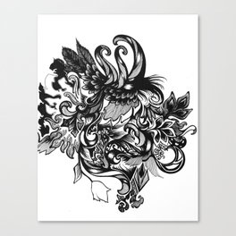 Swan Forest Canvas Print