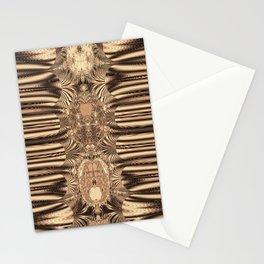 SepiaGold Fractal Stationery Cards