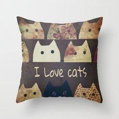 cat-cats-188 Throw Pillow