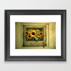 Der Sonnenblumenraum Framed Art Print