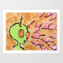 Bugged By Lightning Art Print