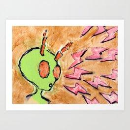 Bugged By Lightning Art Print