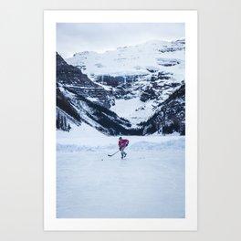 Lake Louise Hockey Art Print