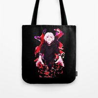 tokyo ghoul Tote Bags featuring Kaneki Tokyo Ghoul 4 by Prince Of Darkness