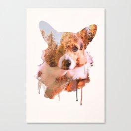 Corgi Forest Canvas Print