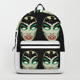 vintage vampire mask pattern Backpack