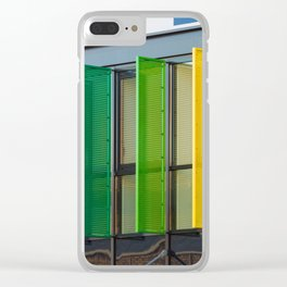 Colorful louvers background Clear iPhone Case