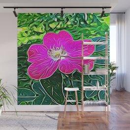 Magenta Flower of Harmony Wall Mural