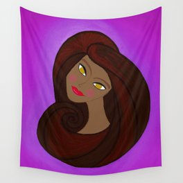 Sable Mod Girl Wall Tapestry