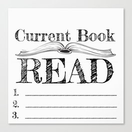 Current Book Read Canvas Print