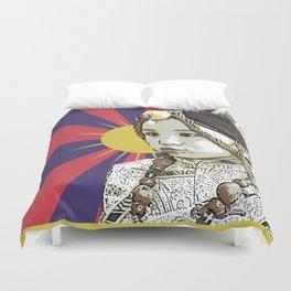 A little Tibetan girl Duvet Cover
