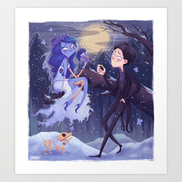 737e8b4a530 Emily and Victor Art Print by greenmaggot