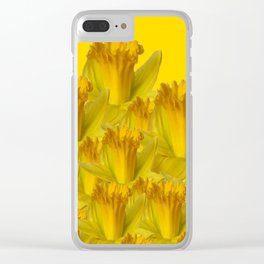 YELLOW SPRING DAFFODILS YELLOW ART Clear iPhone Case