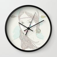 hippy Wall Clocks featuring Hippy Chic by syahrulfikri
