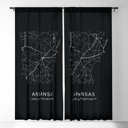 Arkansas State Road Map Blackout Curtain