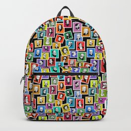 Pattern from stamps with 30 great composers (color version) Backpack