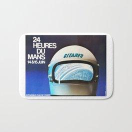 Le Mans 1975, vintage poster, 24hs Le Mans t-shirt Bath Mat