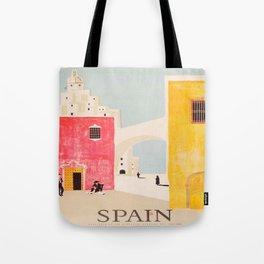 Spain Vintage Travel Poster Mid Century Minimalist Art Tote Bag