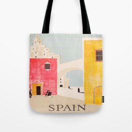 Spain Vintage Travel Poster Mid Century Minimalist Art Tote Bag