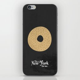 This is New York for me. Bagel iPhone Skin