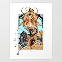polka Art Prints featuring Polka by Barnsey