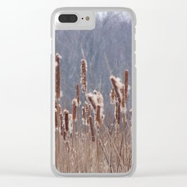 Cattails in Summer Clear iPhone Case