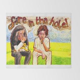 FIRE IN THA HOLE Marijuanaman & English Guy Youtube tribute Throw Blanket
