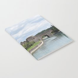 Scenic view of the Visconti bridge with vineyards Notebook