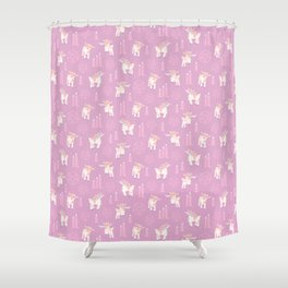 The Kids Are Alright - Pastel Pinks Shower Curtain