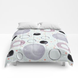 Watercolor bubbles Comforters