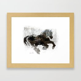 Horse (Winter Canter) Framed Art Print
