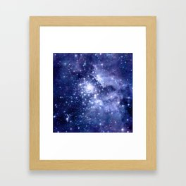 Cobalt Dreams, Universe Stars Space Nebula Framed Art Print