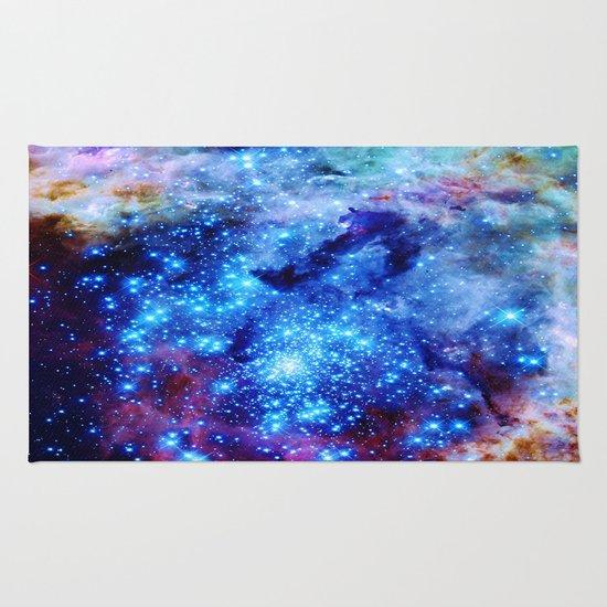 galaxy blue sparkle Rug