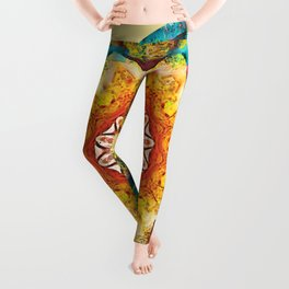 Mandalas from the Heart of Surrender 4 Leggings