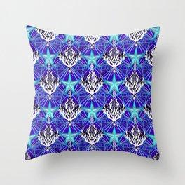 Starfire Kaleidoscope (Meteor Ice Storm) Throw Pillow
