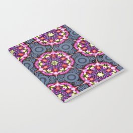 Floral Patterns and Gray Circles Notebook