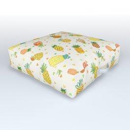 Pineapple Pura Vida Outdoor Floor Cushion