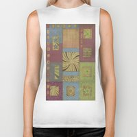 quilt Biker Tanks featuring quilt swirl by Ray Stephenson