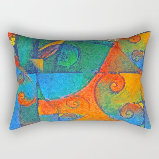 Broto de Samambaia (bracken fern) Rectangular Pillow