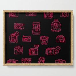Camera: Pink - pop art illustration Serving Tray