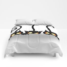 Three Naughty Playful Kitties Comforters