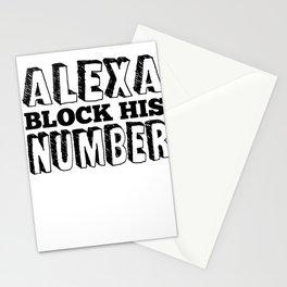 Single Solo Alexa relationship Dating Flirt gift Stationery Cards