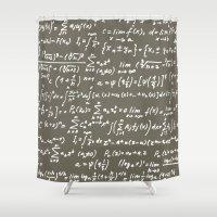 math Shower Curtains featuring Math by beach please