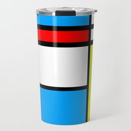 Mondriaan style Travel Mug