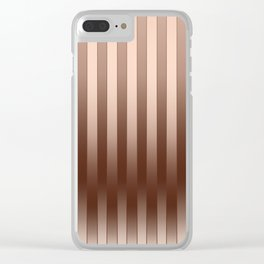 Gradient Stripes Pattern co Clear iPhone Case