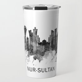 Nur-Sultan Kazakhstan Skyline BW Travel Mug