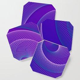 Spiral helix 3d illustration Coaster