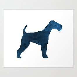 Airedale terrier Art Print